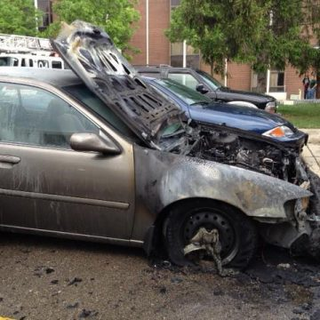 Firefighters respond to car fire in front of Student Union