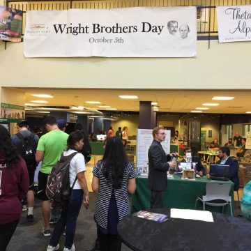Wright Brothers Day held during homecoming week for the first time