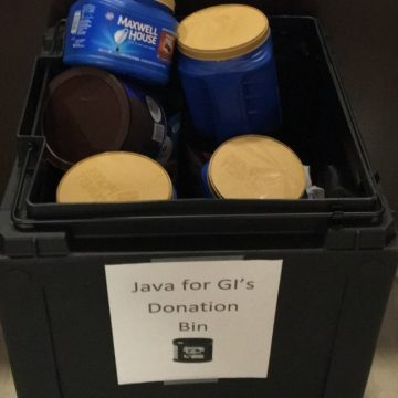 Java for G.I.s coffee drive