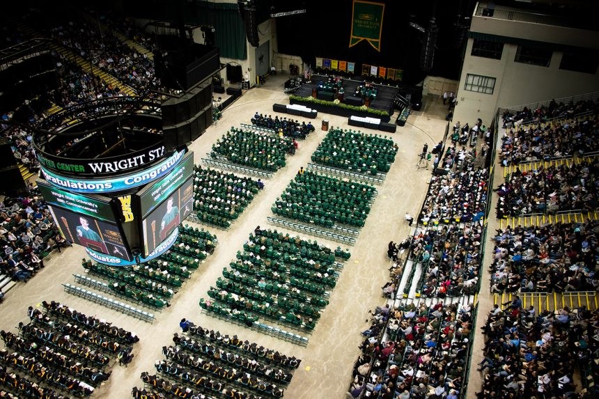 Wright State honors its nearly 1,700 graduating students at Saturday ceremony