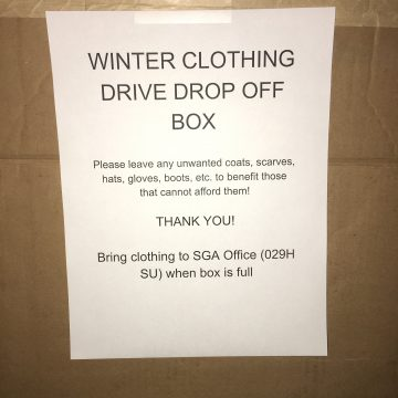 Student Government Association holds winter clothing drive