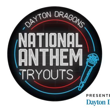 Dayton Dragons National Anthem Tryouts on Feb. 23