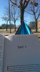 Hammocking on campus. Photograph: Jamie Penwell/The Guardian.