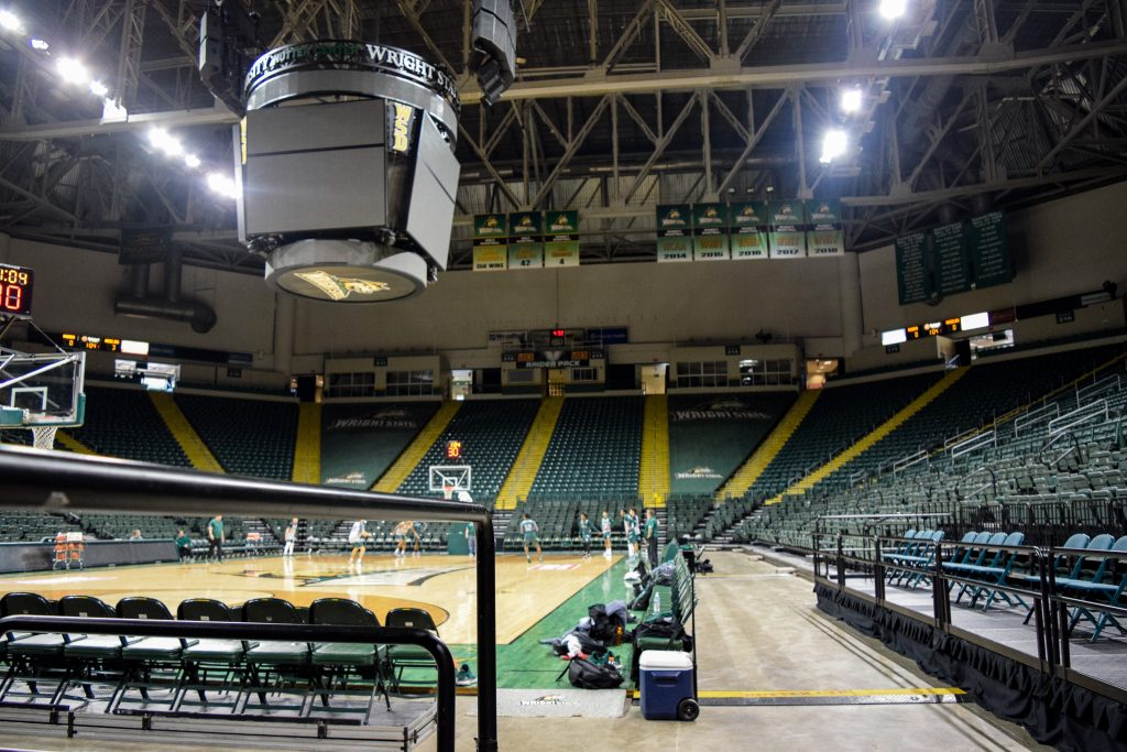 Nutter Center Basketball courts| Photograph by Jessica Fugett | The Wright State Guardian
