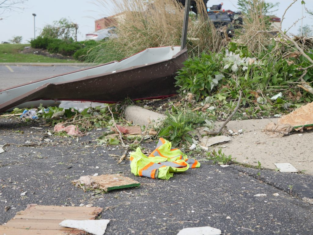 Damage from one of the tornadoes that struck Beavercreek / Photo; Sarah Cavender / Wright State Guardian