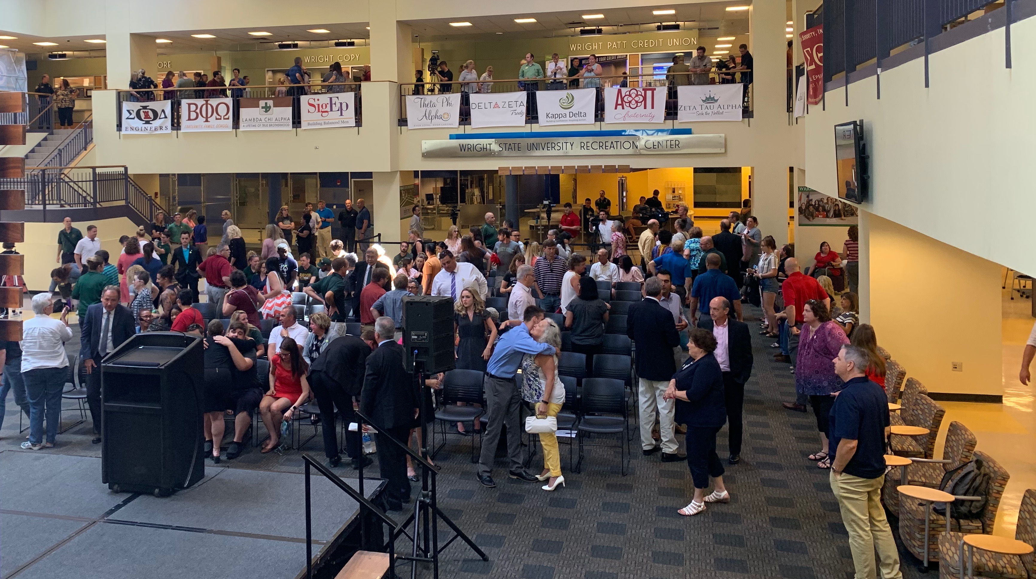Wright State held a vigil to honor Megan Betts and other victims killed in the Sunday morning Oregon District shooting / Photograph: Sarah Cavender