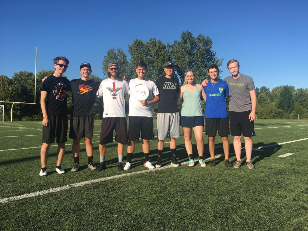Wright State University Ultimate Frisbee Team | Photo by Alexis Wisler | The Wright State Guardian