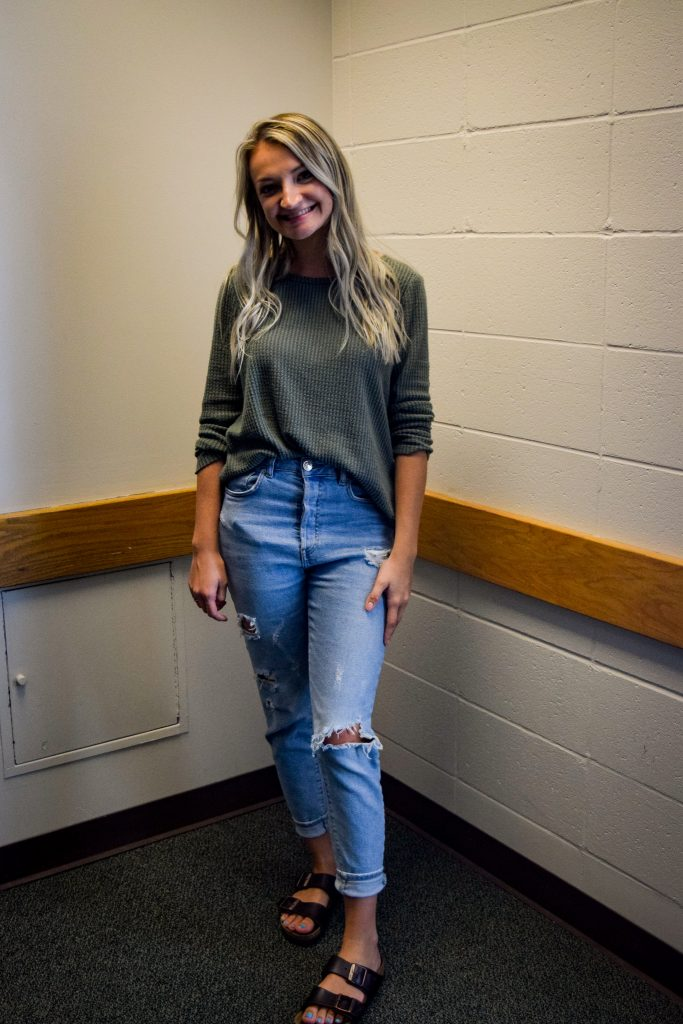 """Lilly Waite. Junior. My favorite thing about my outfit is... """"my comfy shoes."""" 