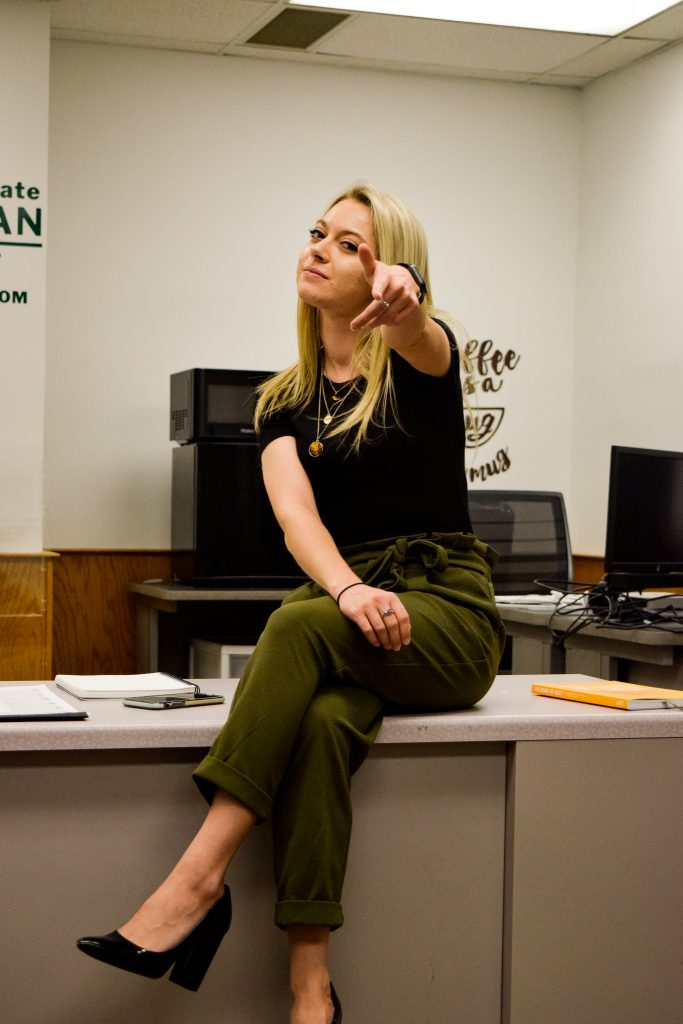 """Sarah Cavender. My favorite thing about my outfit is... """"my heels make me tall!"""" 