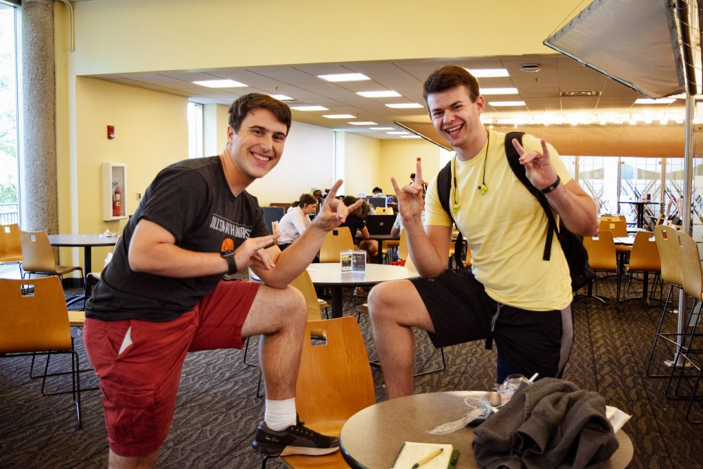 """Jonathan Ciero. Sophomore. My favorite thing about my outfit is... """"my cherry red shorts."""" 
