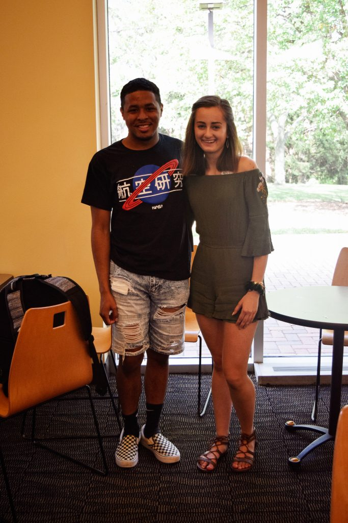 """Jomarre Young. Freshman. My favorite thing about my outfit is... """"NASA is in Japanese."""" 