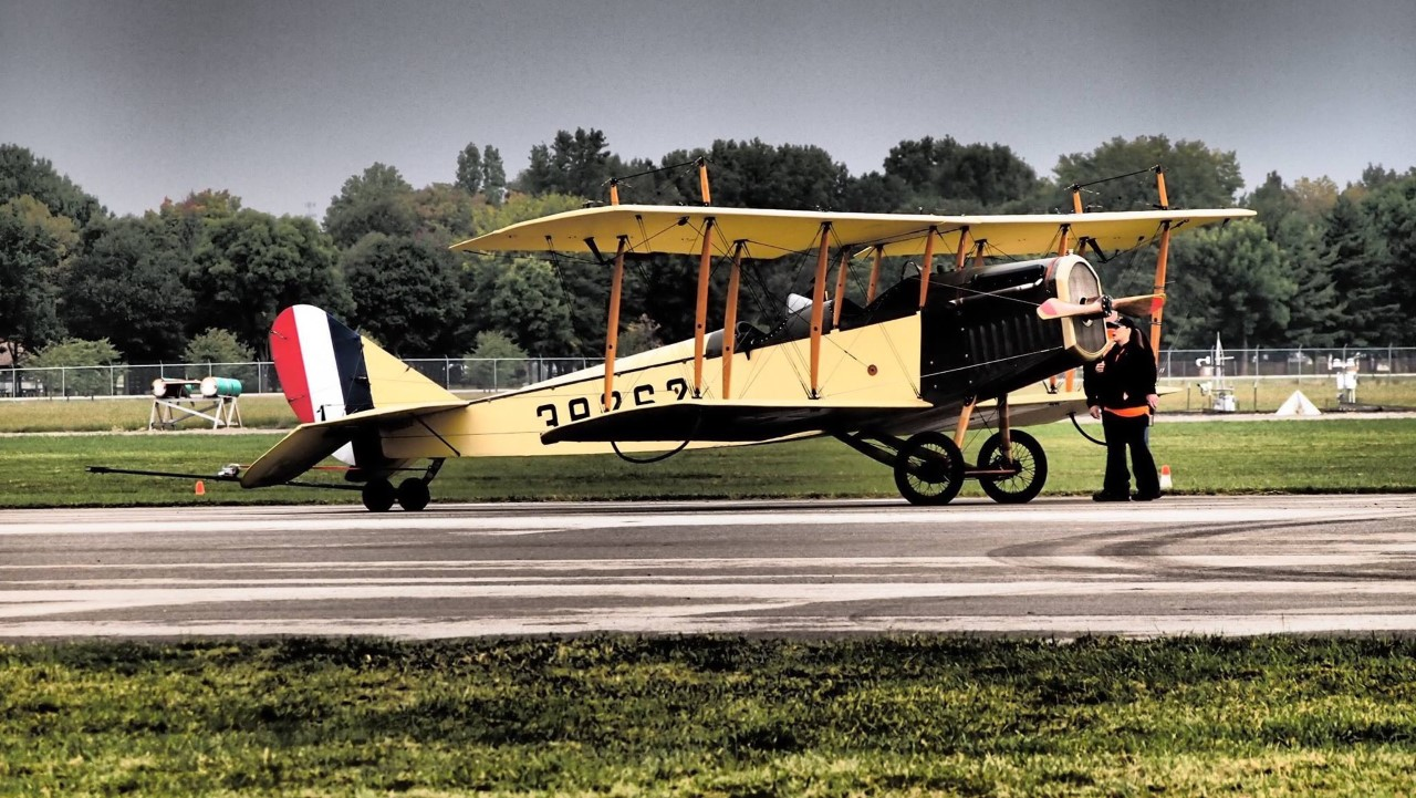League of WWI Historians and Biplane flyover | Photo from Festival of Flight