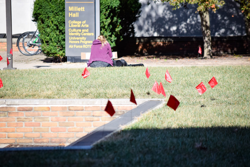 Domestic Violence Awareness Week   Photo by Jessica Fugett   The Wright State Guardian