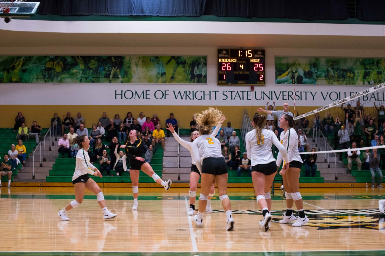 Wright State University Women's Volleyball | Photo by Joe Craven