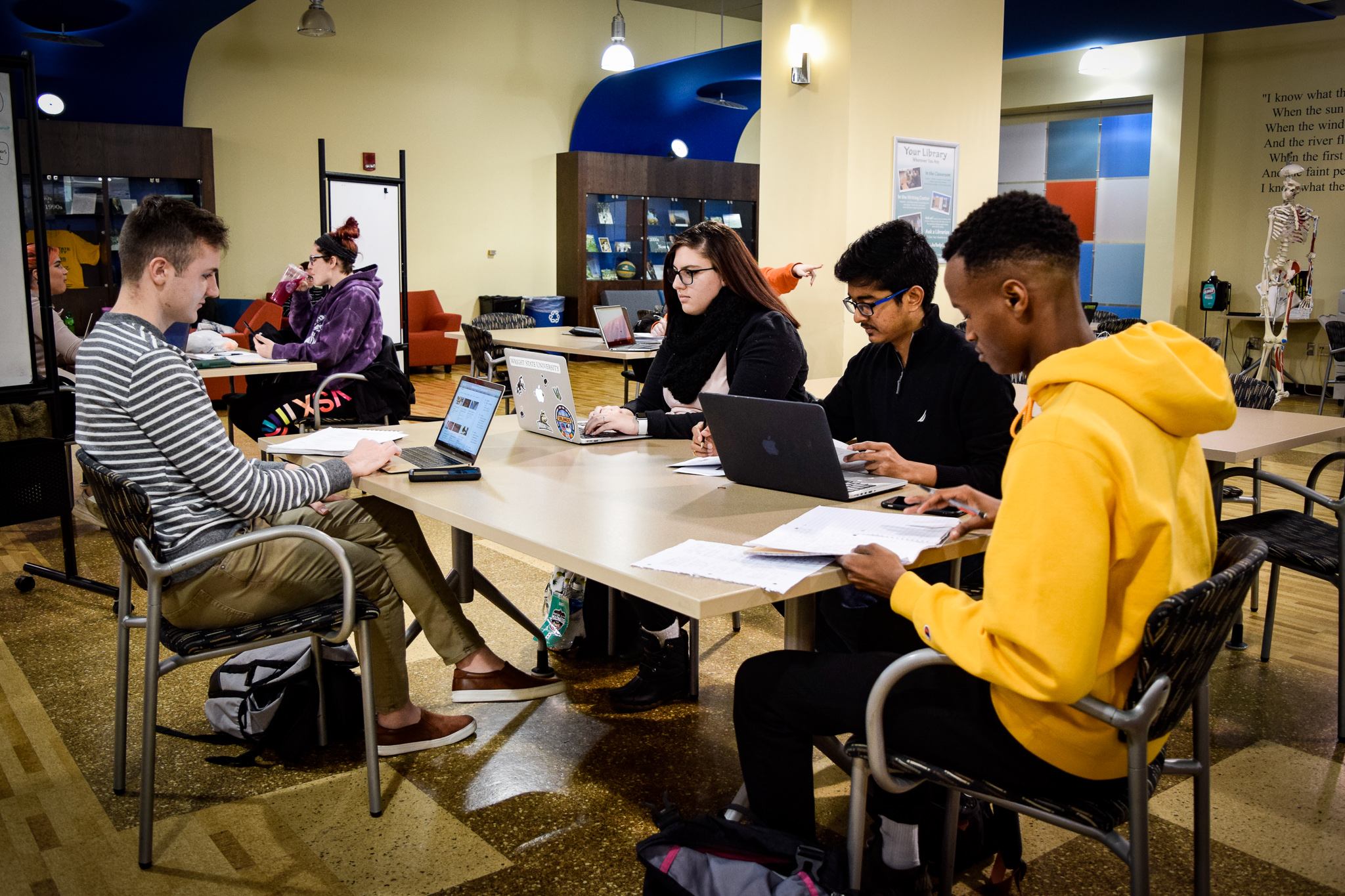 How students prepare for finals | Photo by Jessica Fugett | The Wright State Guardian