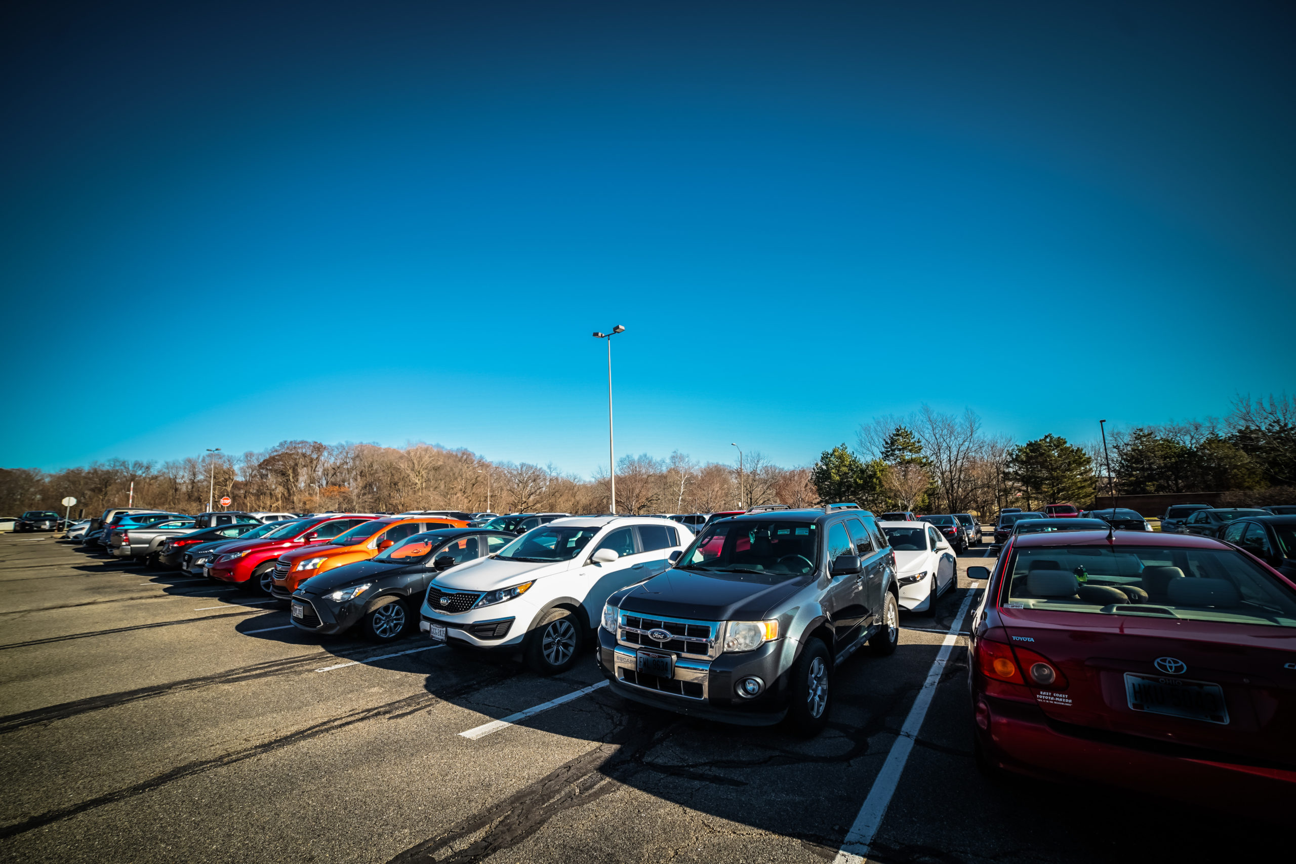 WSU Parking | Photo by Soham Parikh | The Wright State Guardian