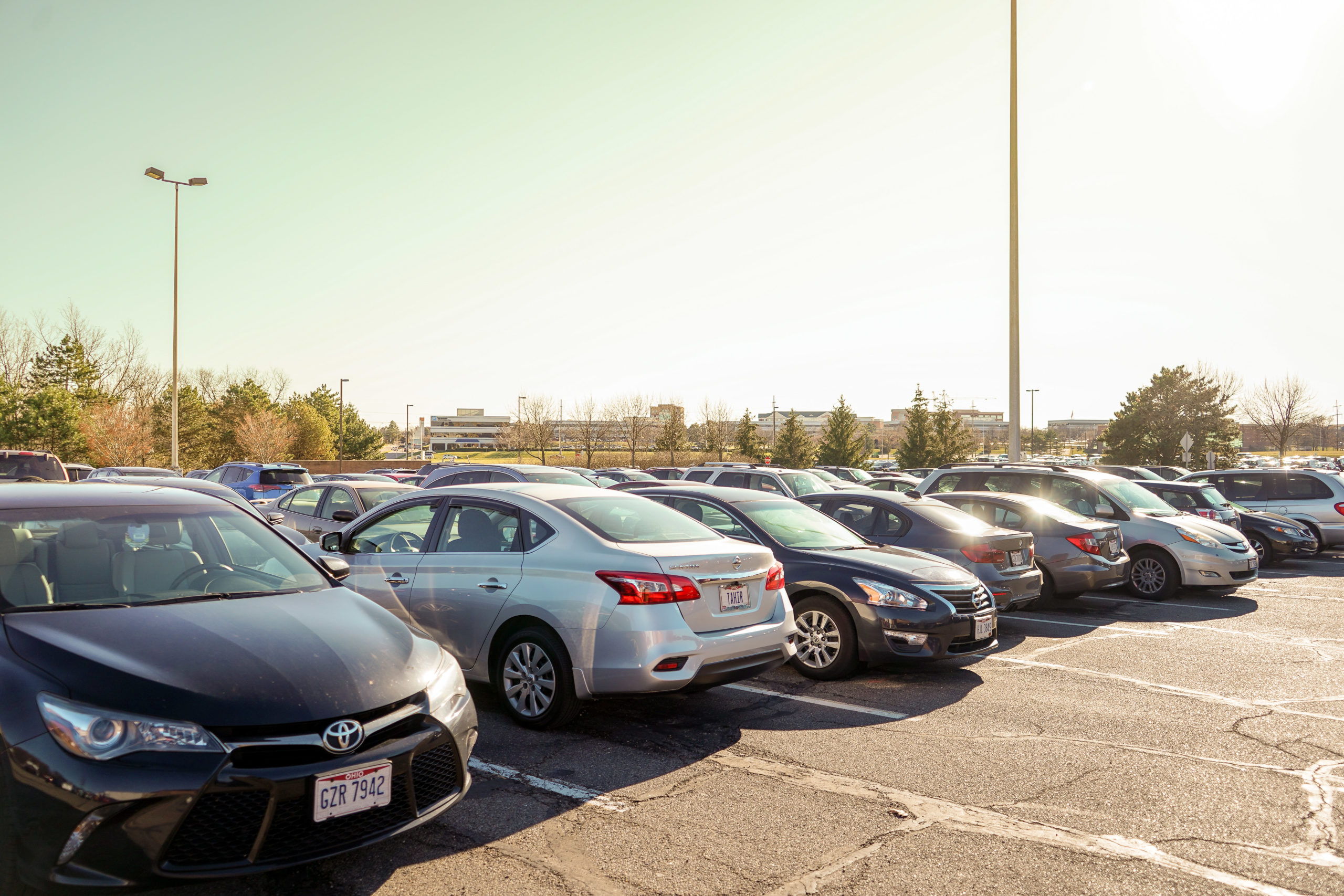 WSU Parking | Photo by Soham Parikh | The Wright State Guardian