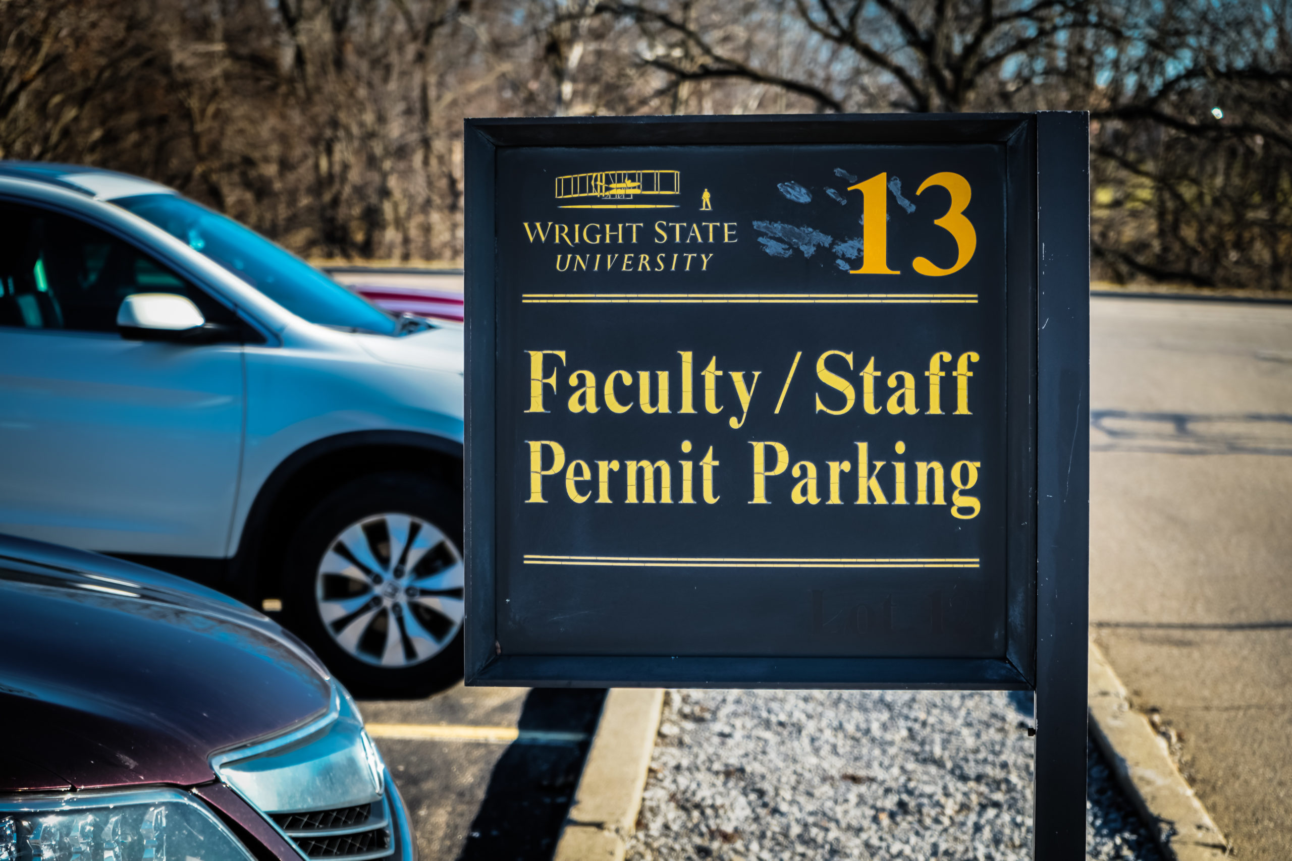 Faculty Parking | Photo by Soham Parikh | The Wright State Guardian