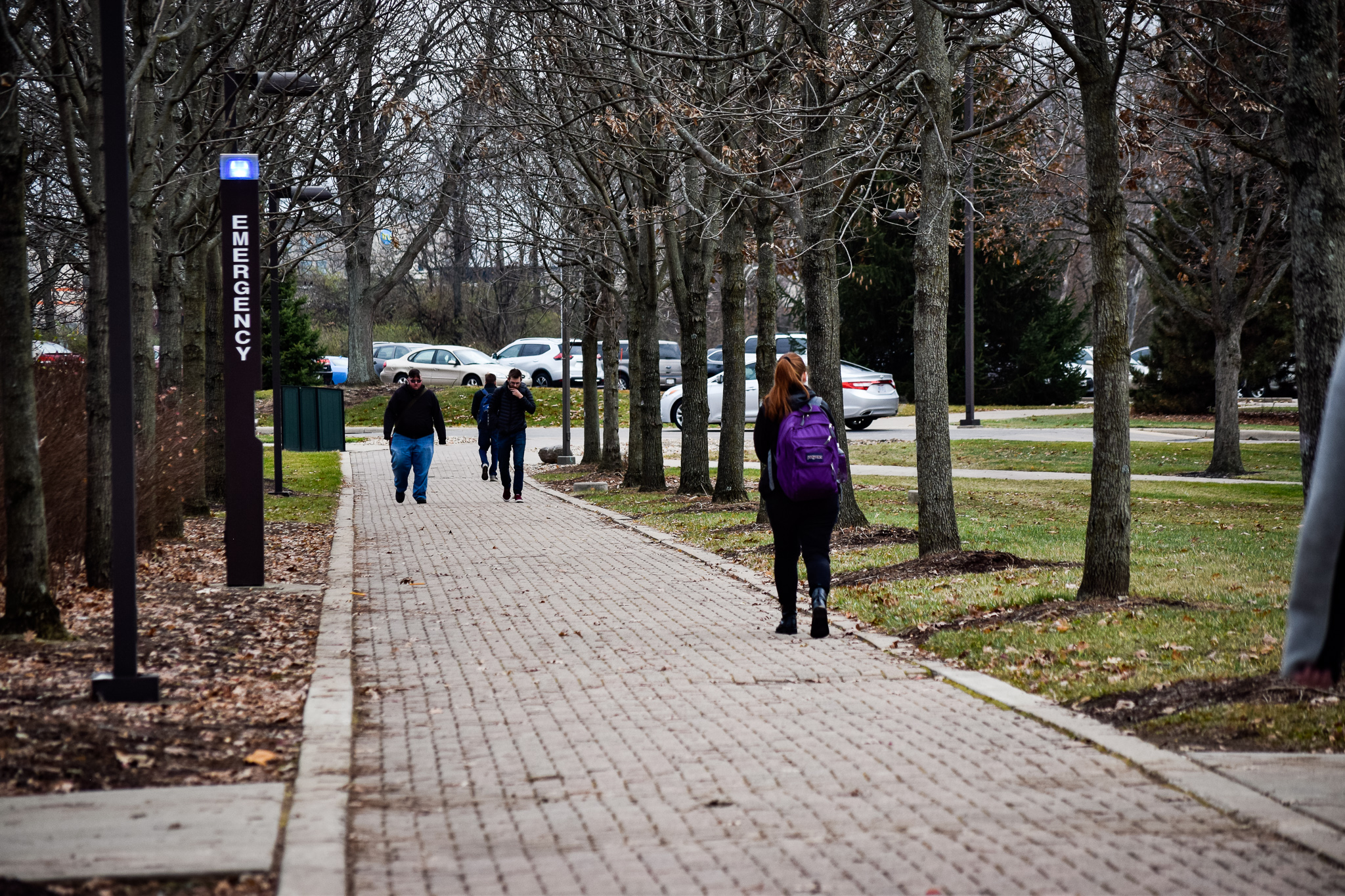 Students around campus | Photo by Jessica Fugett | The Wright State Guardian