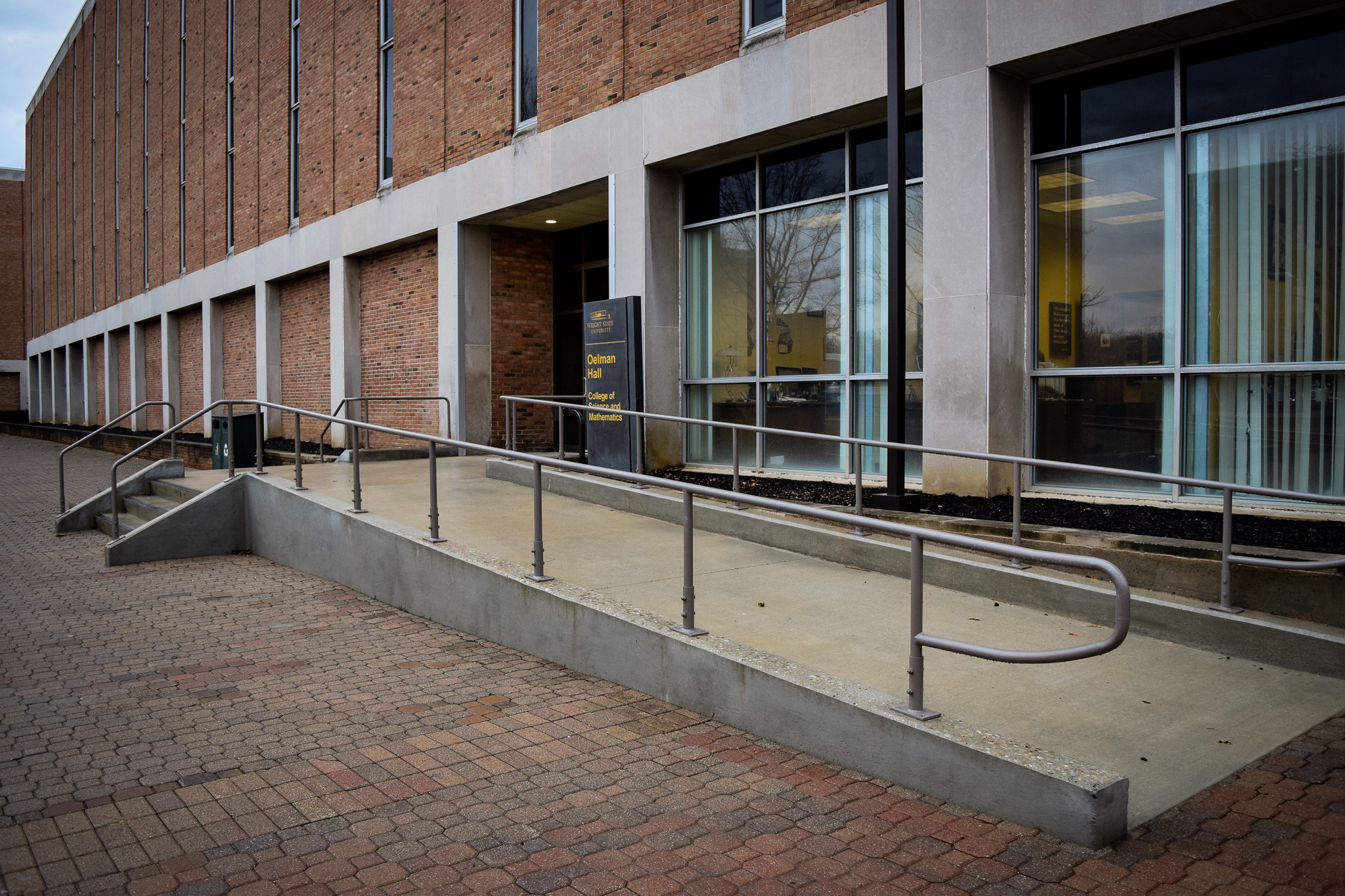 Accessibility Ramps on campus | Photo by Jessica Fugett | The Wright State Guardian