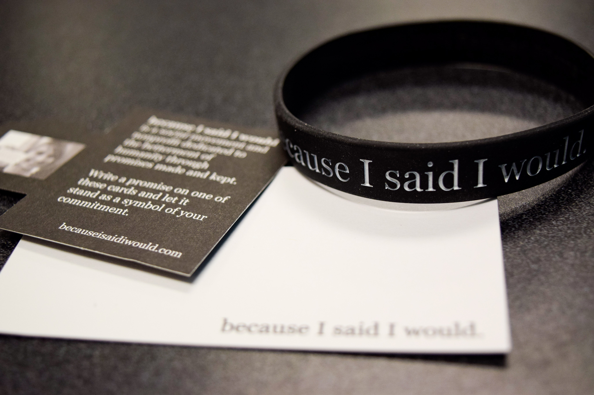 """Because I said I would"" movement 