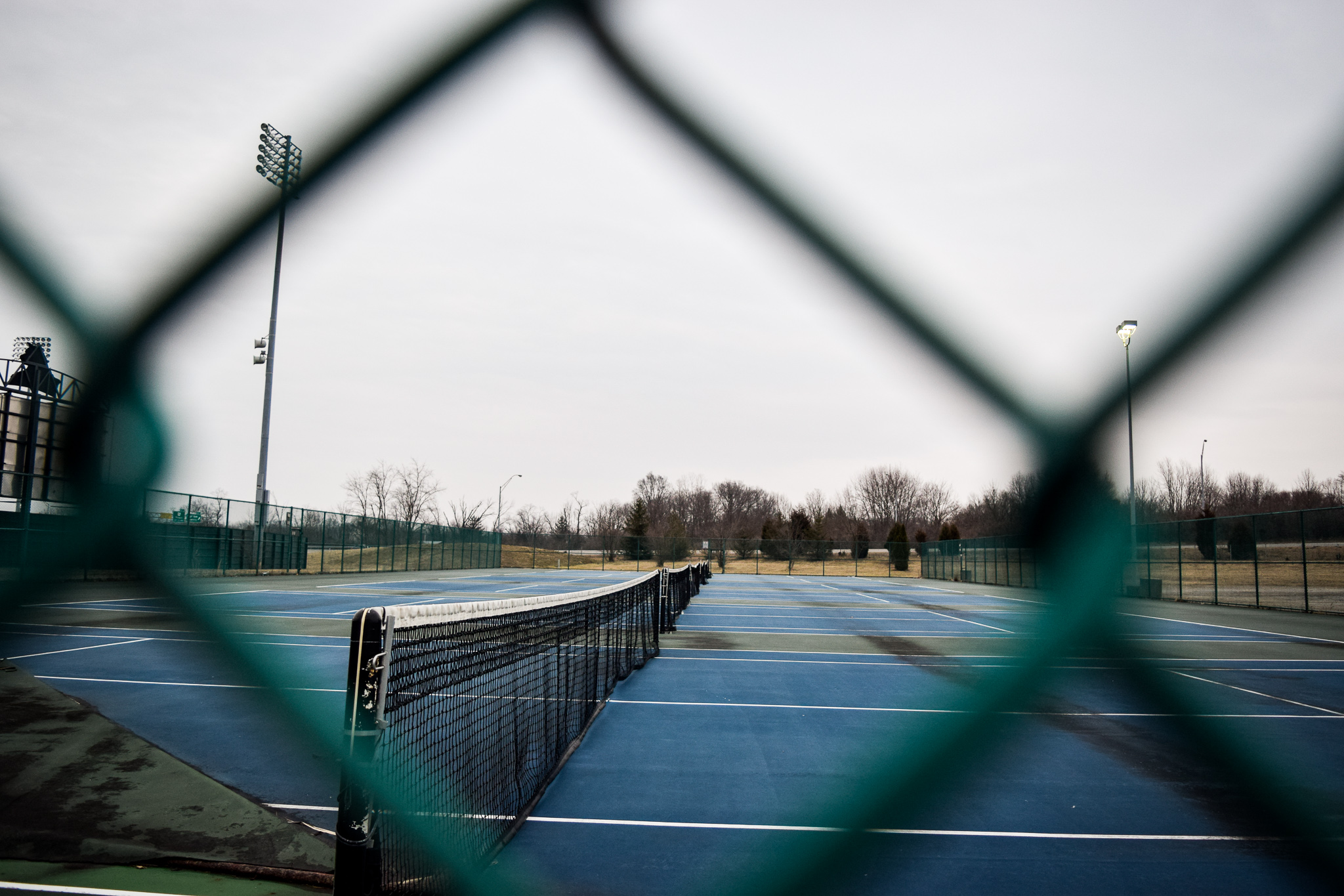 Wright State Tennis Courts | Photo by Jessica Fugett | The Wright State Guardian