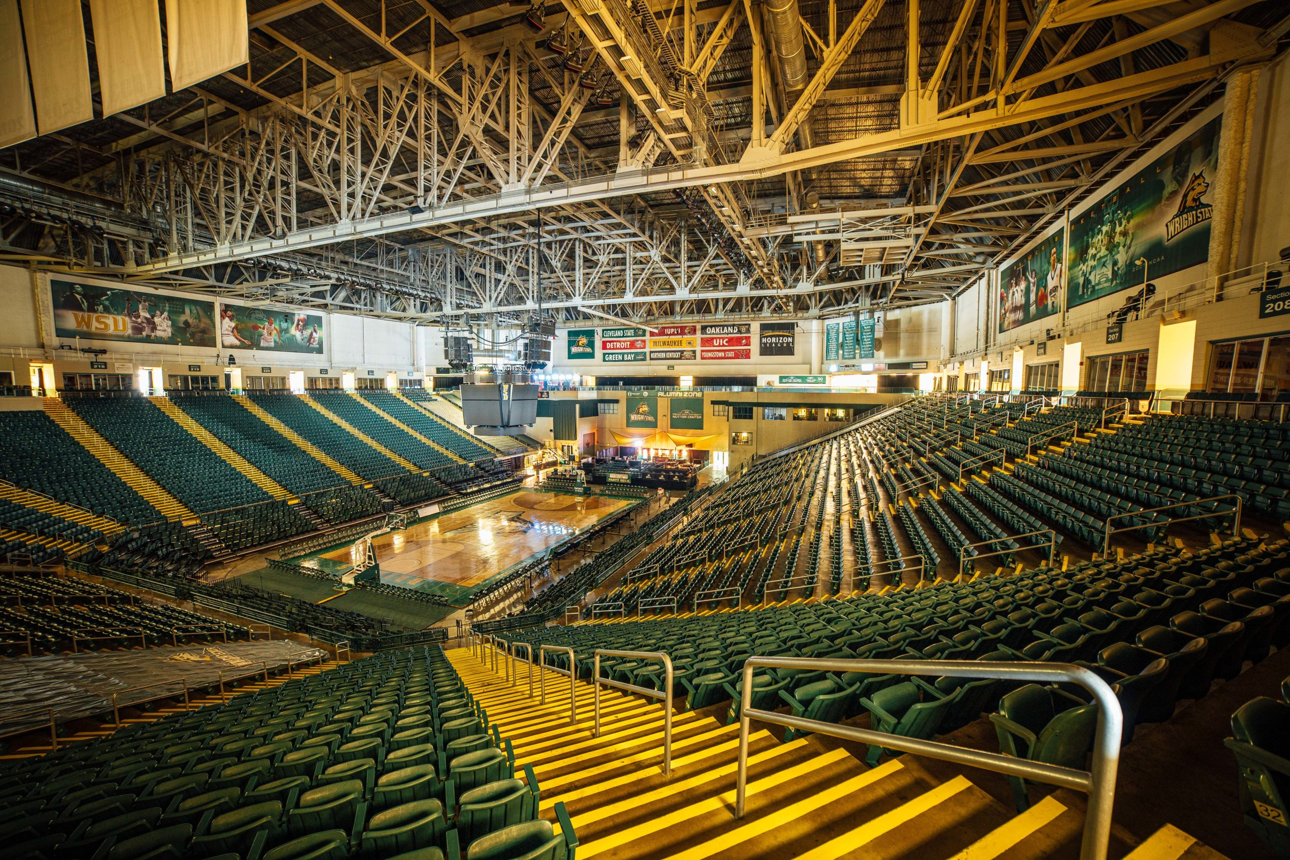 Nutter Center gym | Photo by Soham Parikh | The Wright State Guardian