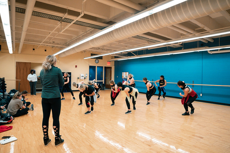 Wright State University Dance Team practicing. February 19   Photo by Soham Parikh   The Wright State Guardian
