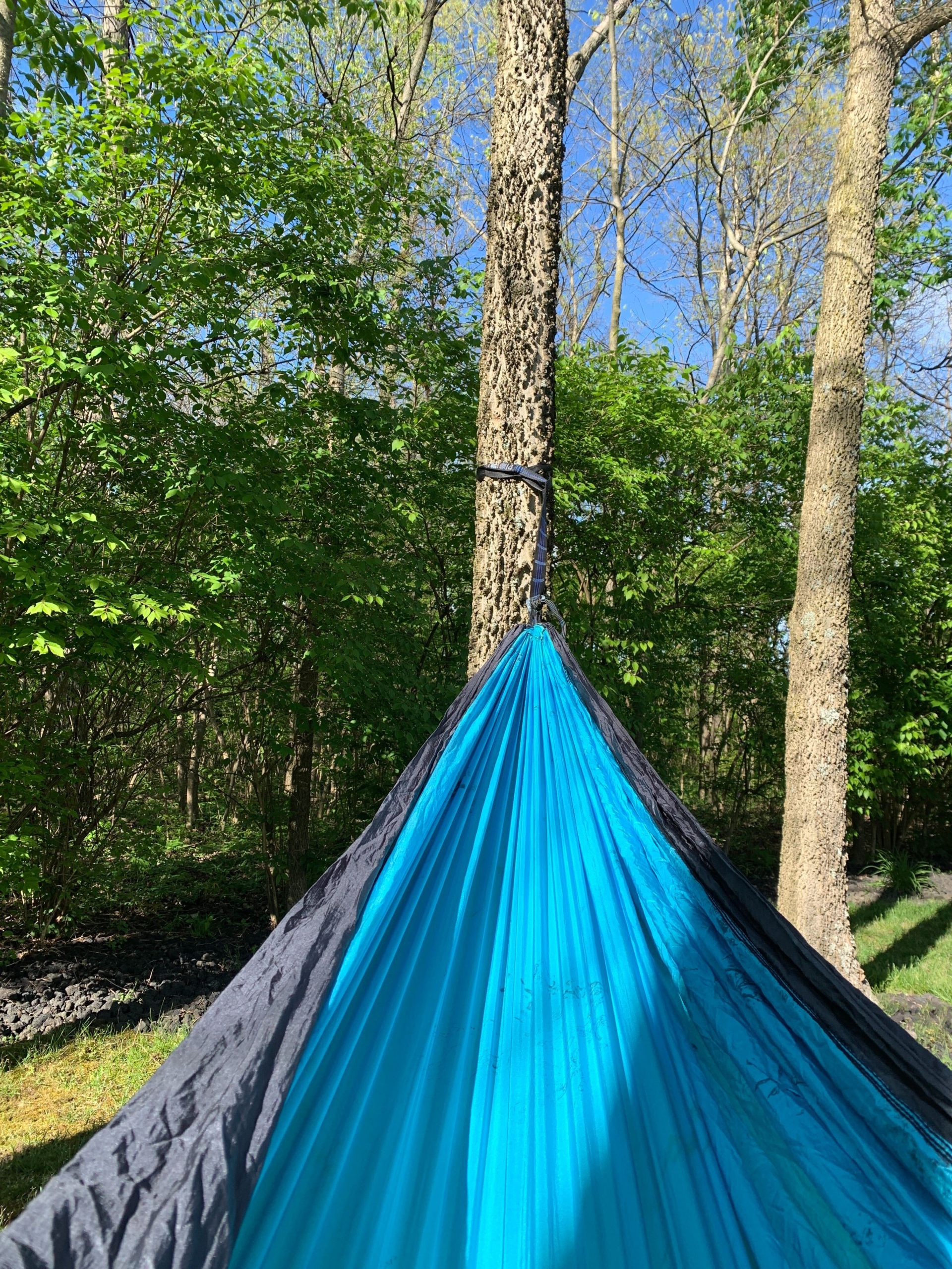 Laying in a hammock outdoors | Photo by Jamie Penwell
