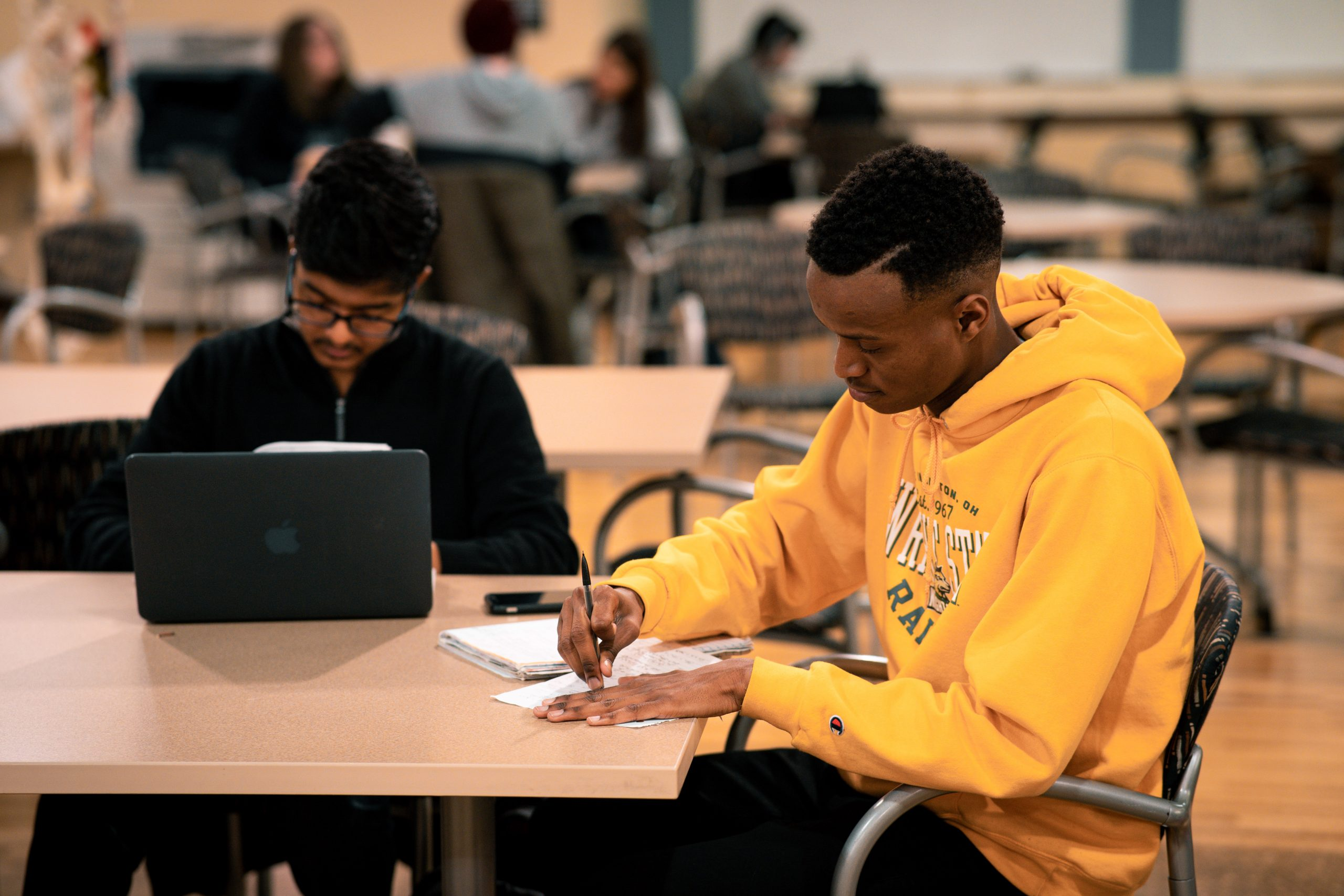 Students working | Photo by Soham Parikh | The Wright State Guardian