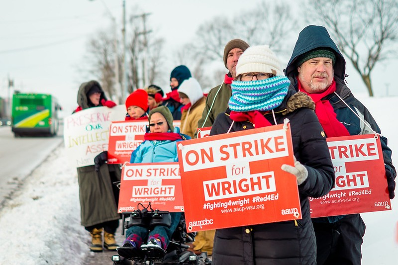 Faculty Strike | Photo by Soham Parikh | The Wright State Guardian