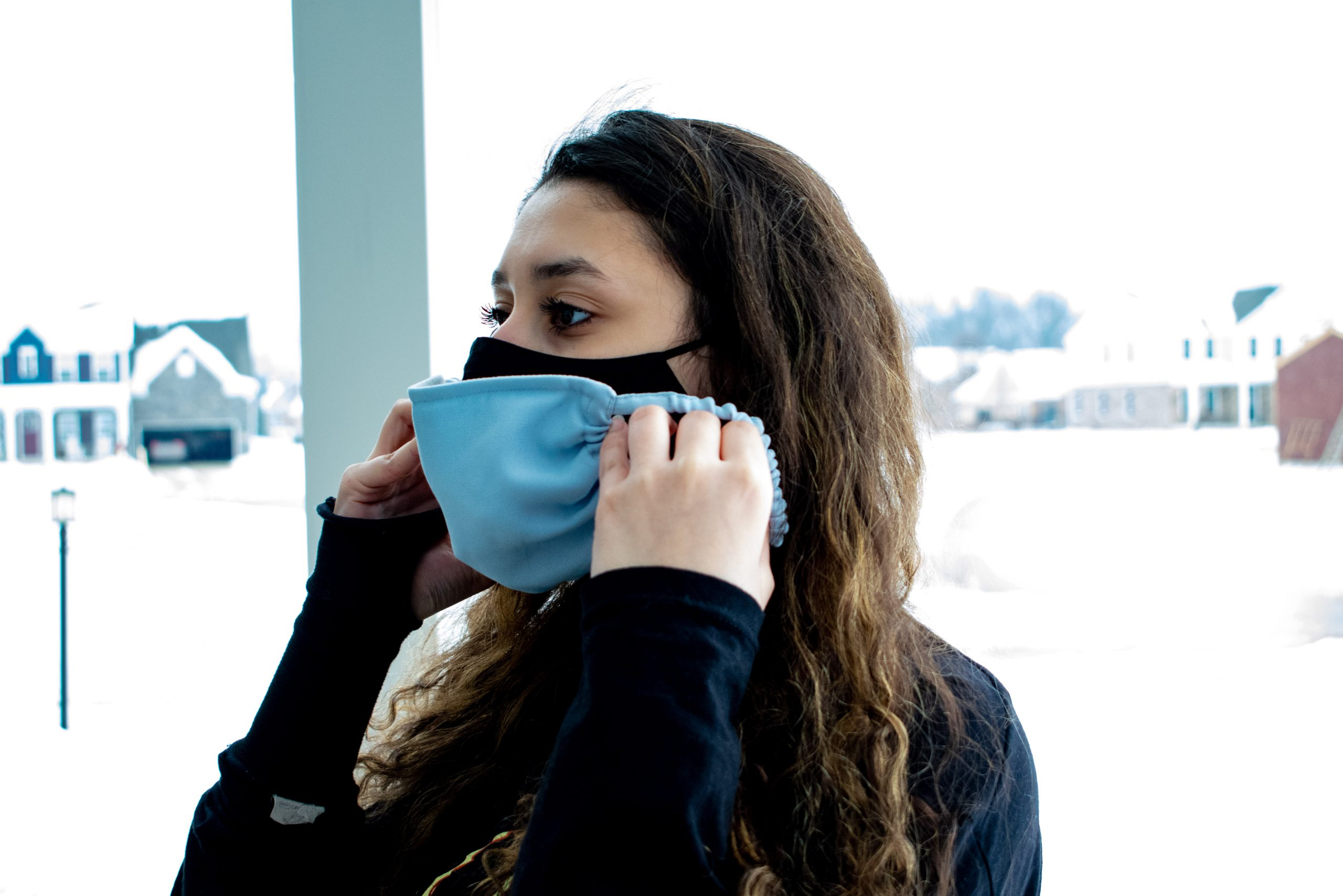 Wearing Two Masks | Photo by Diana Jaber | The Wright State Guardian