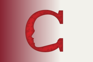A red 'C' for Corona | Illustration by Shannon McCabe | The Wright State Guardian