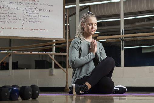 Kara Donbrock meditating