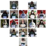 Photos of members of Delta Zeta formatted into a heart
