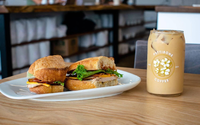 Pettibone Coffee, coffee, sandwich
