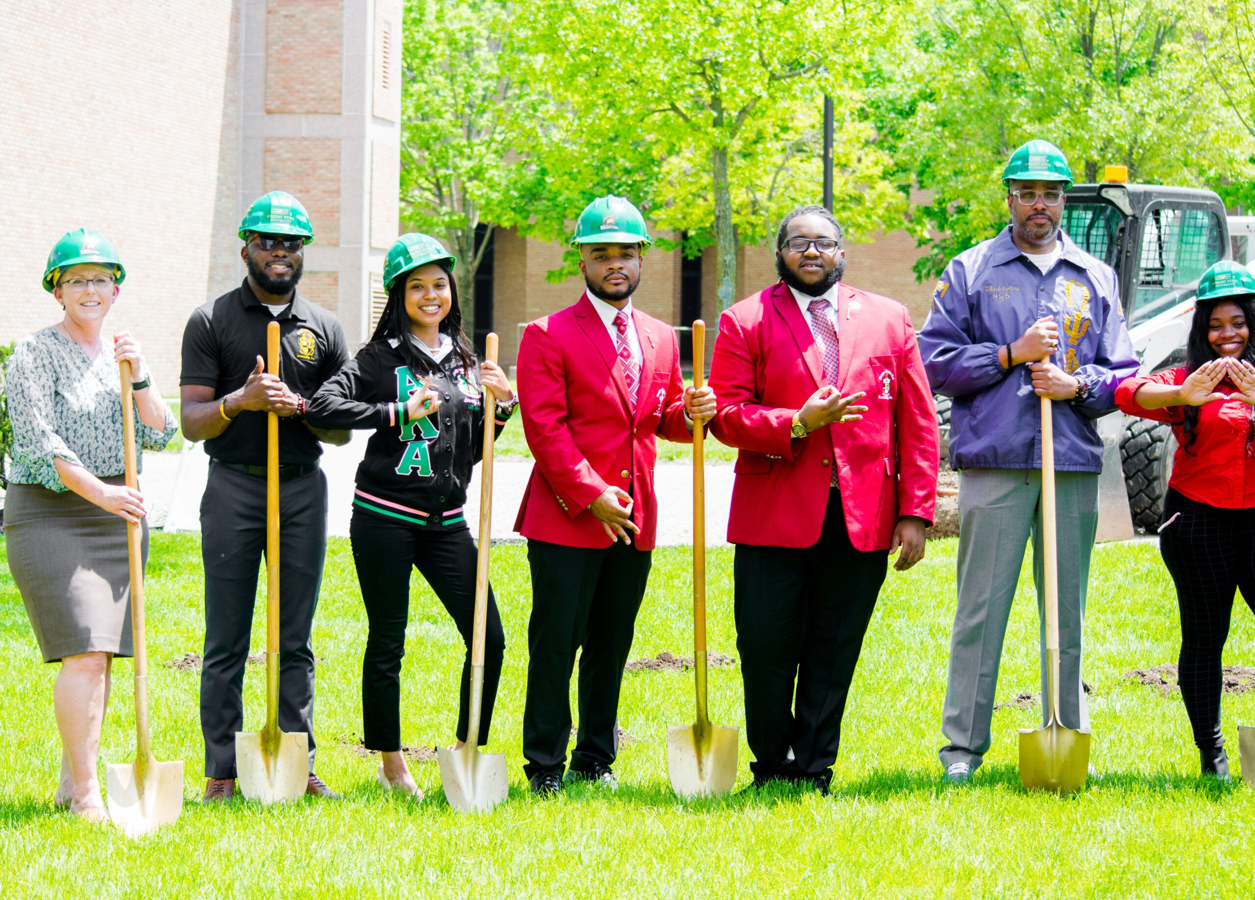 Ground breaking ceremony for NPHC Plots at Wright State University.