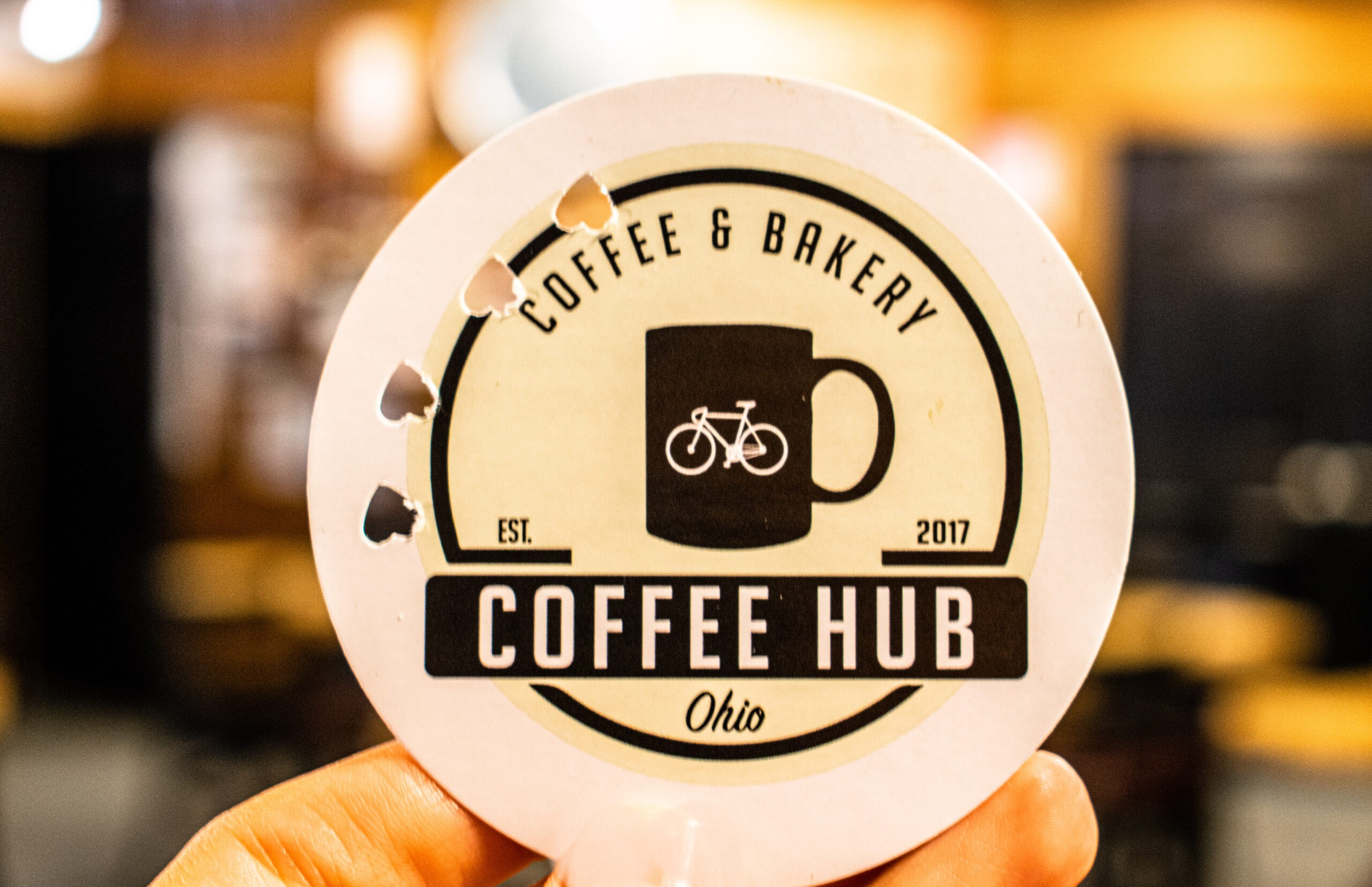 whole punched tag from Coffee Hub, coffee