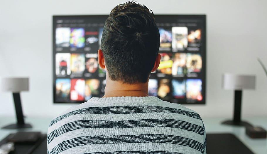 Someone watching tv